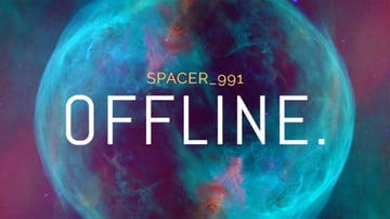 Offline Twitch Banner Generator with Space Background