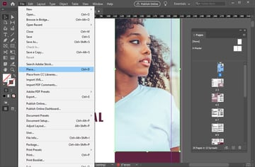 Place Image in InDesign