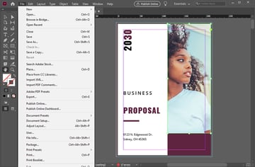 Save Files in InDesign