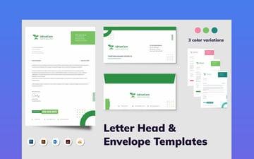 Letterhead  Envelope Stationery Set for Microsoft Word