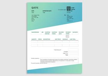Green Gradient Design Free Letterhead Stationery