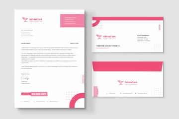 letterhead and envelope template