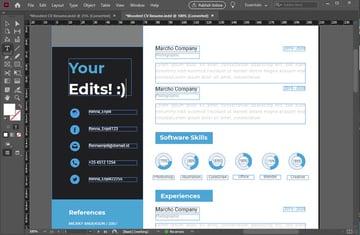 Edit Adobe InDesign Resume Template Tutorial Edit Text in Adobe InDesign