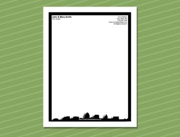 Cleveland Skyland Free Letterhead Stationery Design