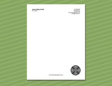 Free Celtic Cross Aesthetic Stationery Design