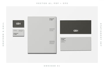 grayscale aesthetic stationery