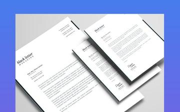 Minimalist Black and White Letterhead Stationery