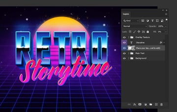 photoshop text effects smart object