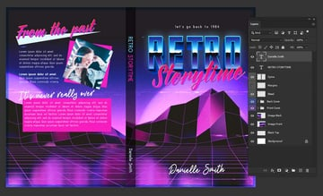 book cover template spine