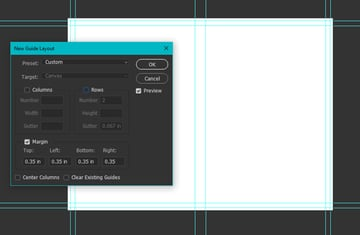 photoshop new guide layout