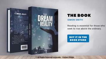 Promotional Video Template for Book Cover Design