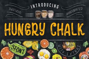 Hungry Chalk Writing Font