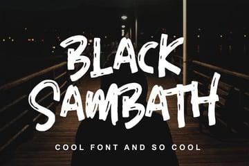 Black Sambath Chalkboard Writing Font