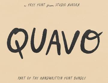 Quavo Free Font