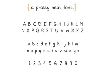 Pretty Neat Free Font