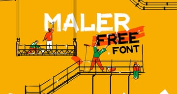Maler Free Font