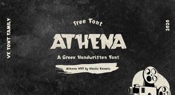 Athena Free Handwritten Font