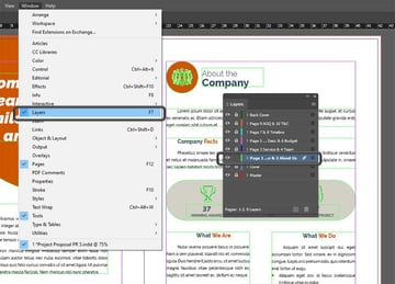 InDesign Layers