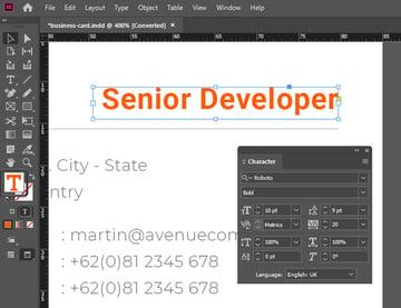 Font Color InDesign