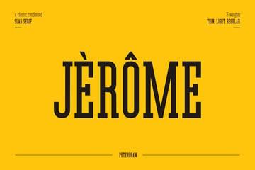 Jerome Condensed Slab Serif