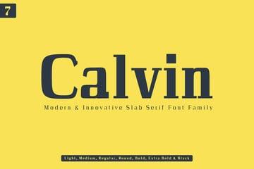 Calvin Modern Inspired Slab Font