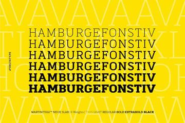 MartiniThai Neue Slab Serif Typeface