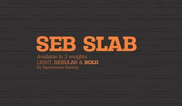 Seb Slab Serif Fonts 3 Weights
