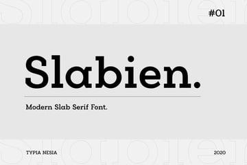 Slabien Modern Slab Font