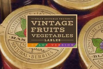 vintage labels slab serif