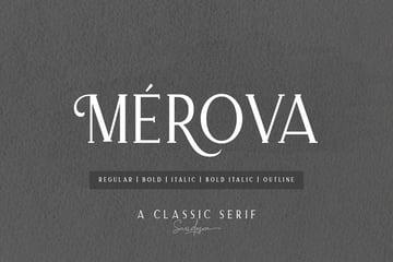 Merova Classic Serif Simple Modern Fonts
