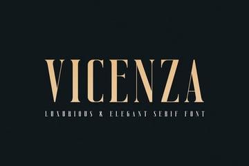 Vicenza Thin Modern Fonts