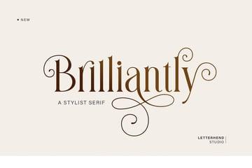 Brilliantly Elegant and Stylish Serif Font