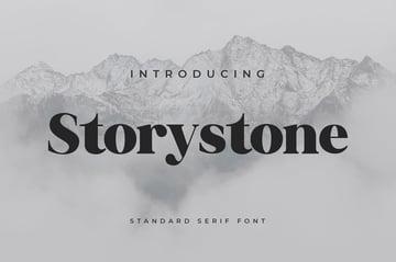 Storystone Modern Block Font