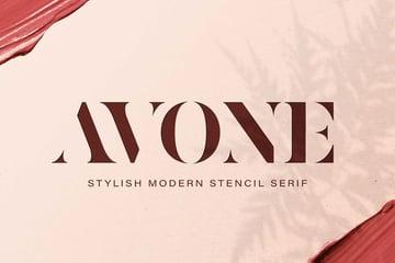 Avone Stylish Modern Stencil Serif Font