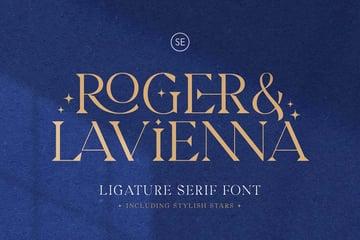 Roger  Lavienna Ligature Serif Cool Modern Fonts