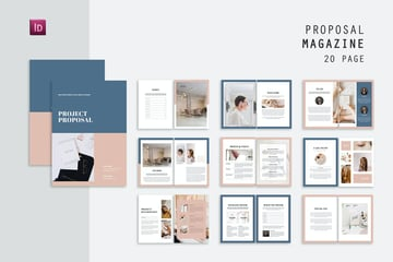 business plan InDesign template