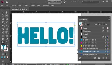 change font color indesign swatches