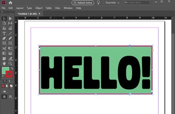 indesign stroke and fill colors