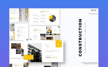 PowerPoint Templates Building Construction