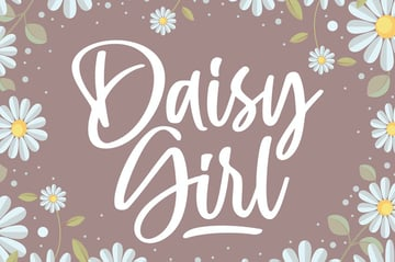 Daisy Girl Cricut Script Font