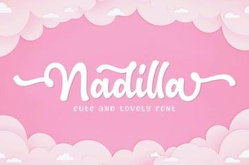 Nadilla Cute Cricut Script Font