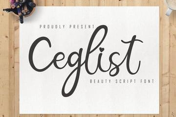 Ceglist Cricut Script Font