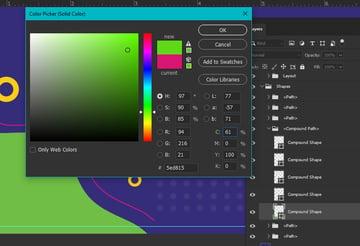 Change Shape Color