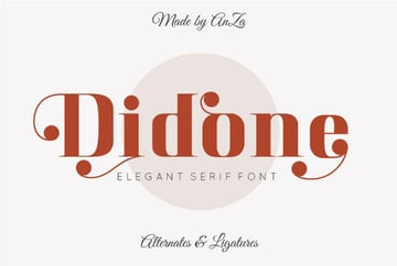 Didone Typeface Didot style fonts