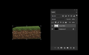 Photoshop paste onto new layer