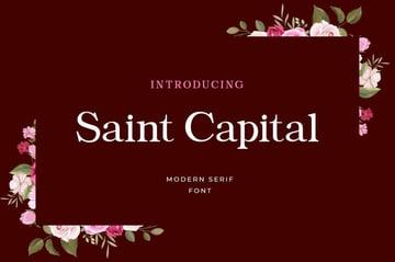 Saint Capital Serif Typeface