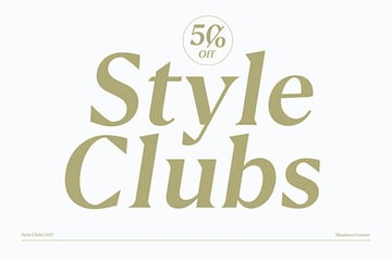 Style Clubs Style Serif Typeface