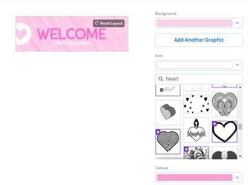 cute twitch panels online maker
