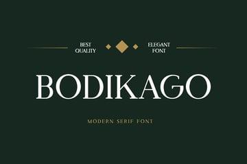 Bodikago Luxury Serif Font