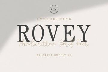 Rovey - Handwritten Serif Font